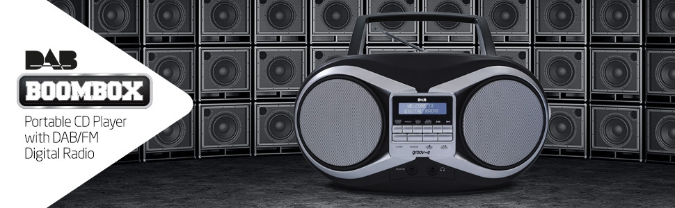 DAB boombox cd player