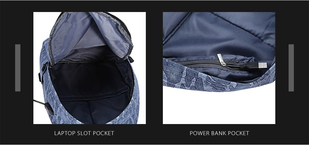 Guapabien External USB Charge Port Cable Backpack Laptop Travel Bag