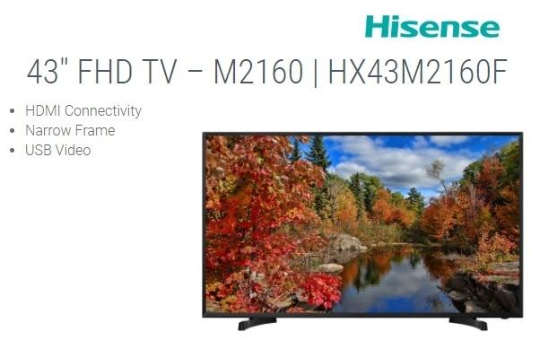 hisense hx43m2160f fhd tv on jumia