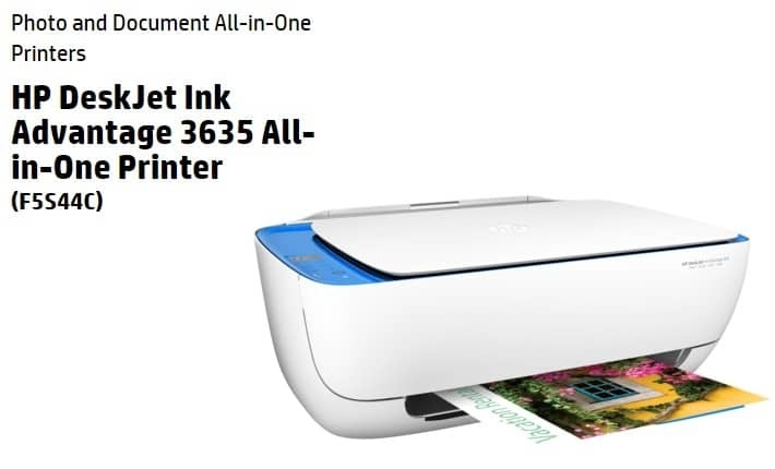 HP Deskjet 3635 (F5S44C) sur Jumia