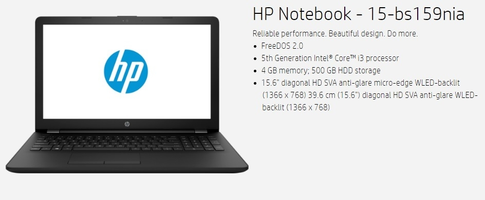 HP-Notebook 15-bs159nia in Nigeria