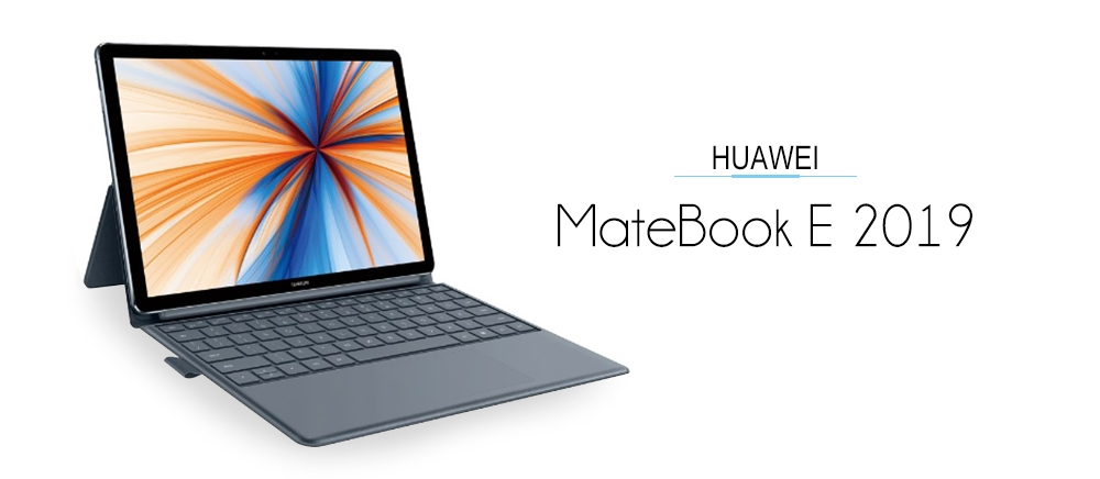 HUAWEI MateBook E 2019 12.0 inch Laptop Windows 10 Qualcomm SDM850 Octa Core 2.9GHz CPU 8GB RAM 256GB SSD Fingerprint Sensor 13MP Camera