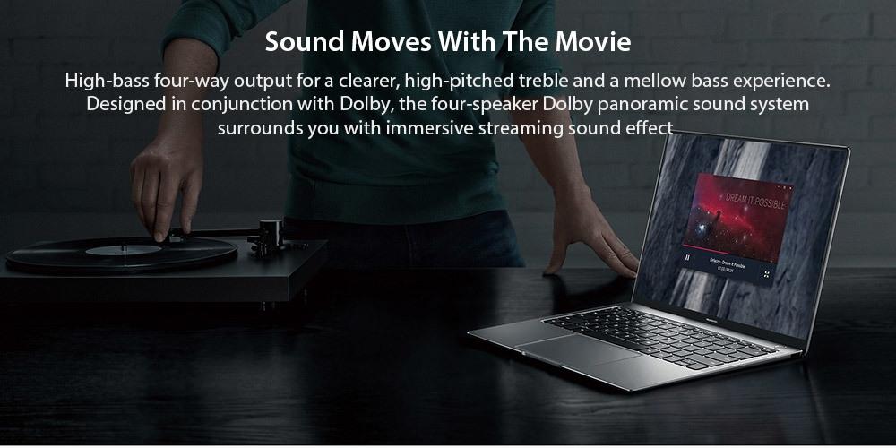 HUAWEI MateBook X Pro MACH - W29C Laptop 13.9 inch Windows 10 OS