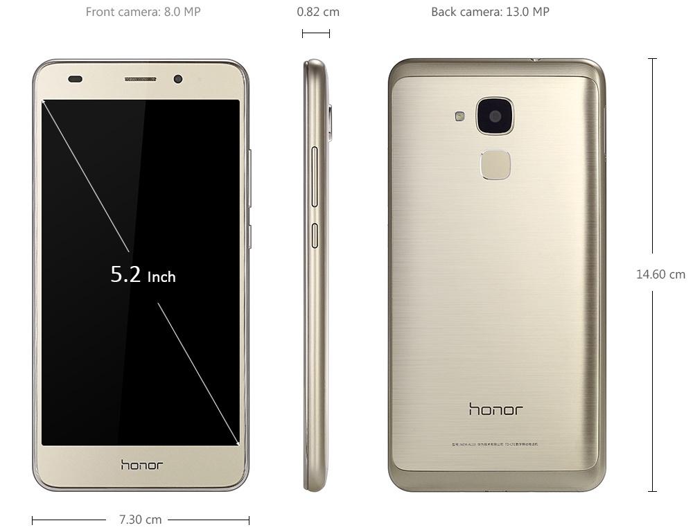 Honor 5C ( NEM-AL10 ) 5.2 inch Android 6.0 1080P FHD IPS Screen 4G Smartphone Kirin 650 Octa Core 2.0GHz 2GB RAM 16GB ROM 13.0MP Rear Camera Fingerprint Sensor