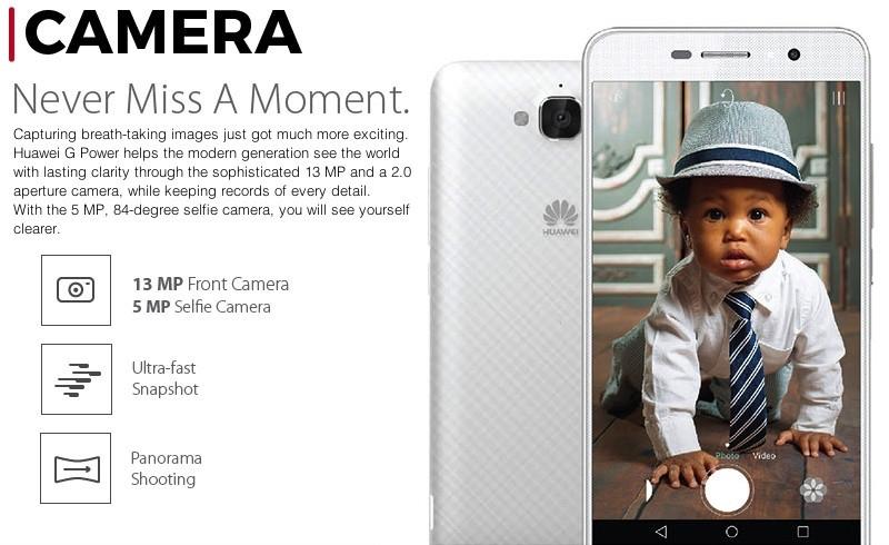 Huawei G Power Breathtaking Camera display