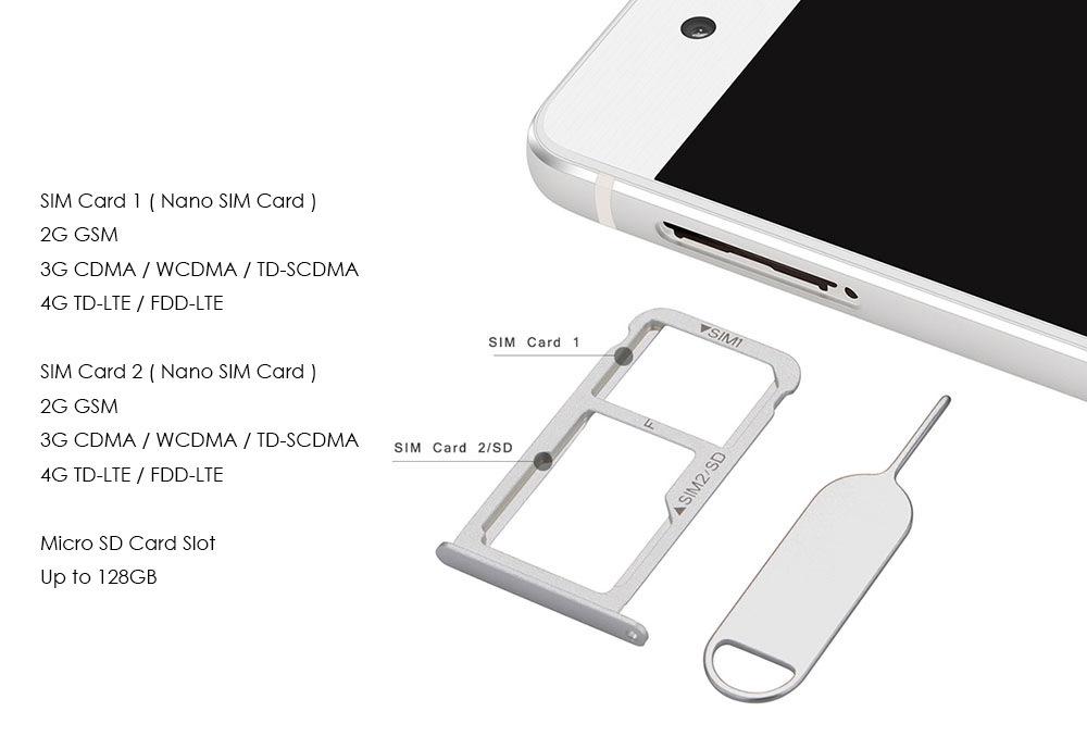Huawei P9 5.2 inch 4G Smartphone Android 6.0 Kirin 955 64bit Octa Core 4GB RAM 64GB ROM Dual 12MP Main Cameras Fingerprint Sensor Type-C Bluetooth 4.2