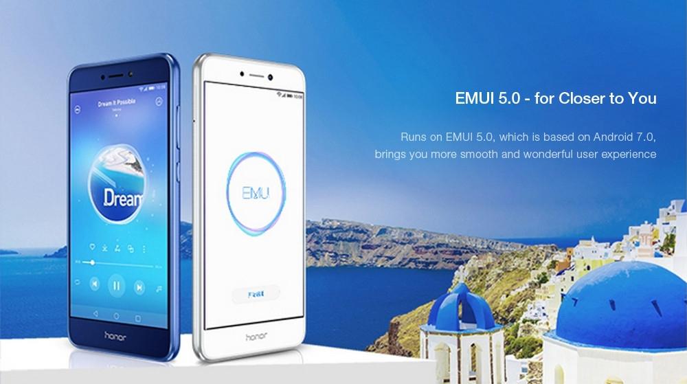 Huawei Honor 8 Lite ( PRA-AL00X ) 5.2 inch 4G Smartphone EMUI 5.0 Kirin 655 Octa Core 2.1GHz 4GB RAM 32GB ROM Fingerprint Sensor WiFi Direct
