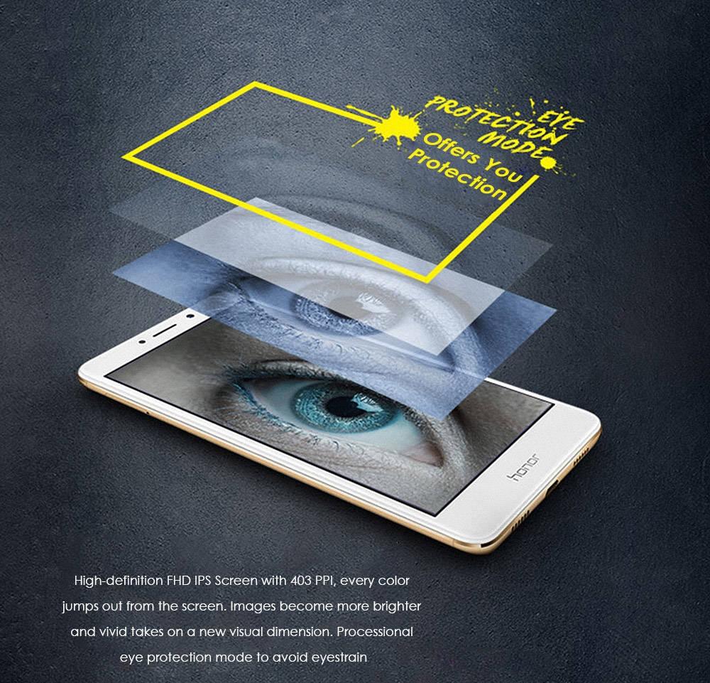 Huawei Honor 6X ( BLN-AL10 ) 5.5 inch 4G Smartphone Android 6.0 Kirin 655 Octa Core 2.1GHz 4GB RAM 64GB ROM Dual Rear Cameras Fingerprint Sensor