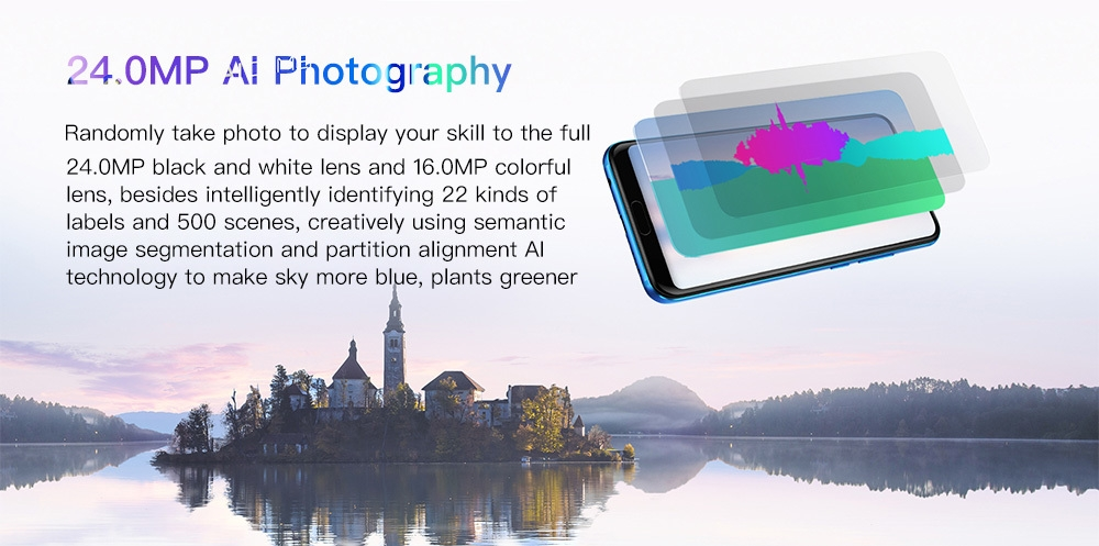 Honor 10 4G Phablet 5.84 inch Android 8.1 Kirin 970 Octa-core 2.36 GHz 4GB RAM 128GB ROM 20.0MP + 16.0MP Dual Rear Camera 3400mAh Built-in Fingerprint Scanner