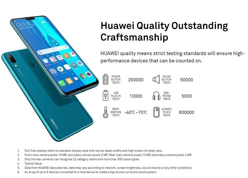 Huawei Y9 (2019) 6 5-Inch FHD+ (4GB, 64GB ROM) Android 8 1