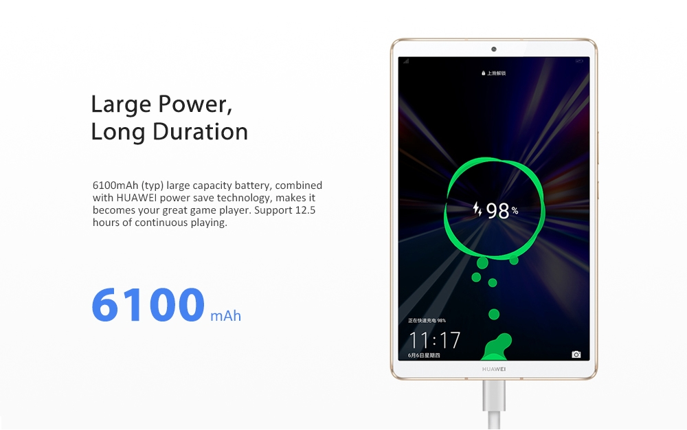 HUAWEI M6 4G Phablet Tablet PC 8.4 inch / Android 9.0 OS / Hisilicon Kirin 980 Octa Core 1.8GHz CPU / 13.0MP + 8.0MP Cameras