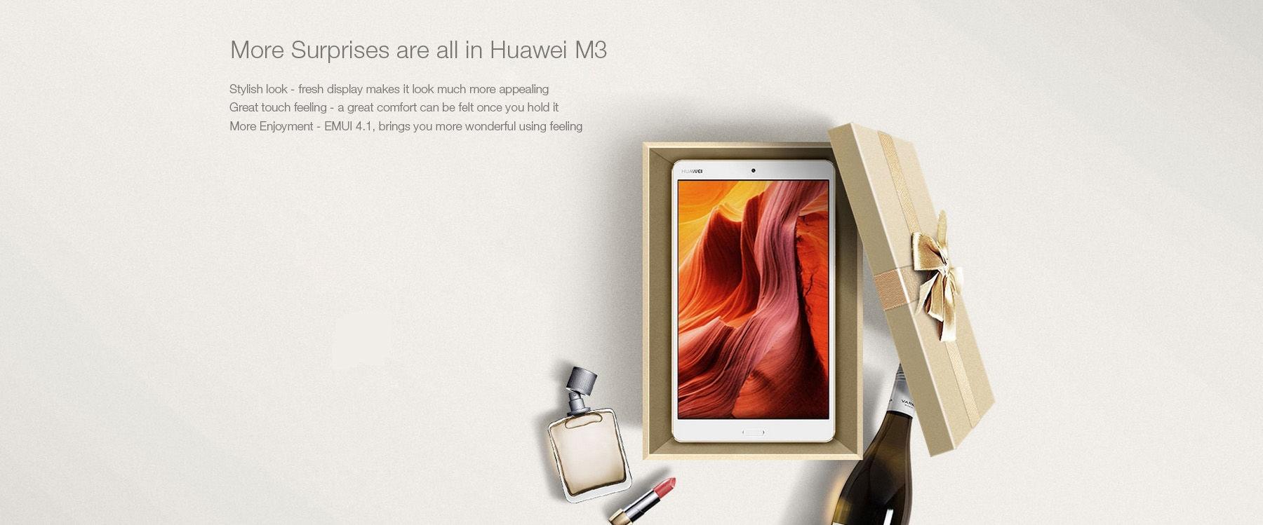 Huawei M3 ( BTV-DL09 ) 8.4 inch 4G Phablet 2K IPS Screen Android 6.0 Kirin 950 Octa Core 2.3GHz 4GB RAM 64GB ROM Dual WiFi OTG Fingerprint Sensor