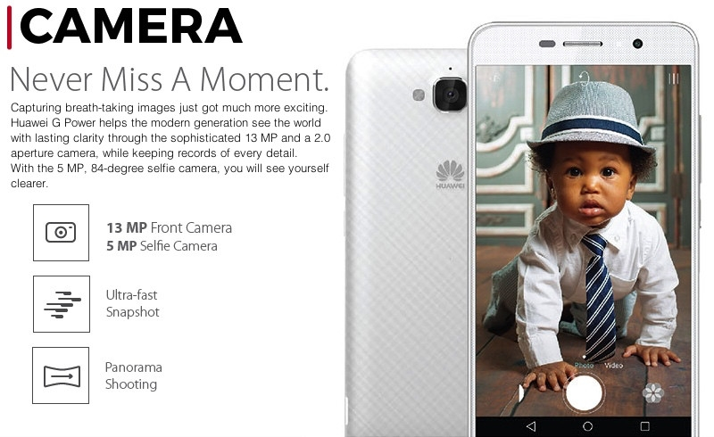 Huawei G Power Breathtaking Camera display