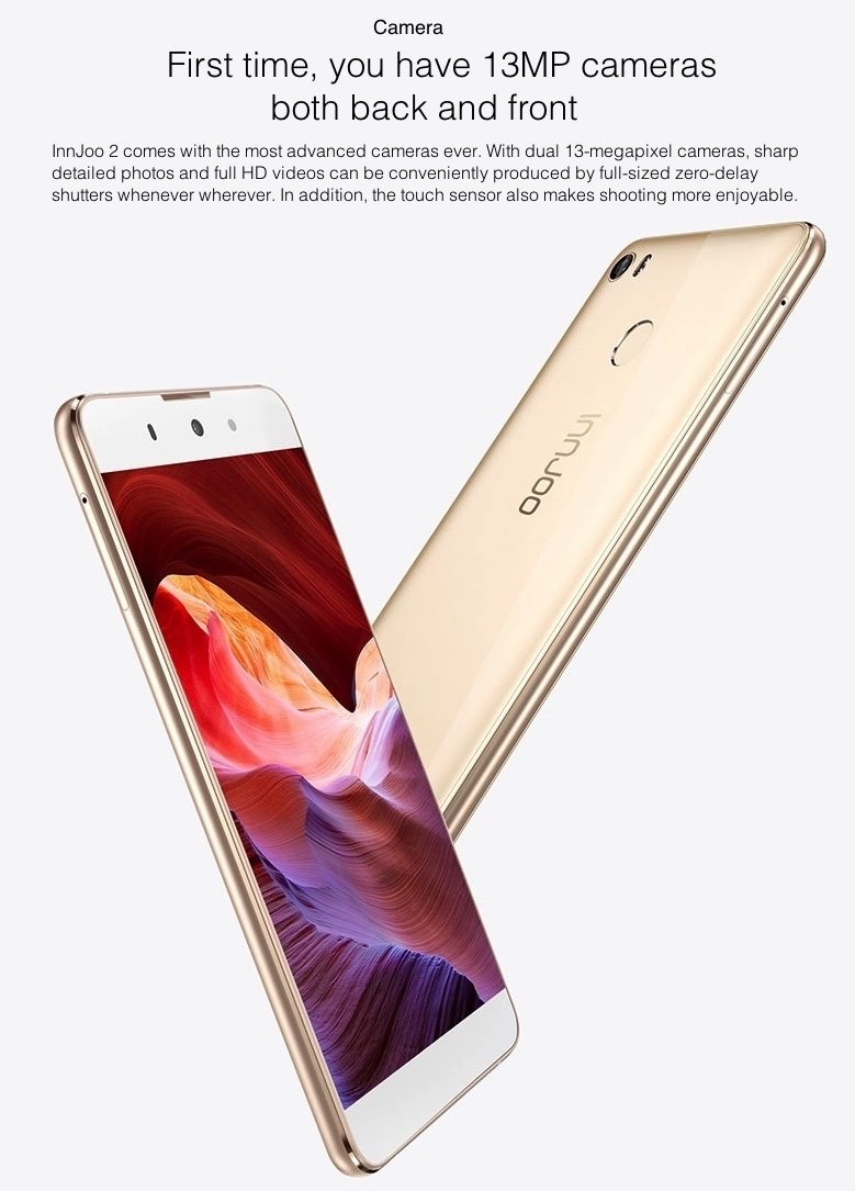 InnJoo 2 with 13MP front and rear cameras