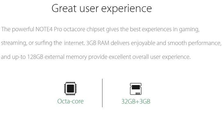 Infinix Note 4 Pro 3GB RAM 32GB ROM