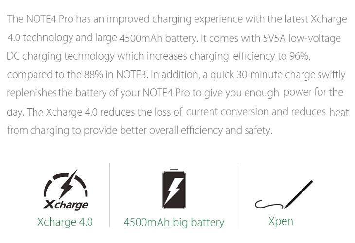 Infinix Note 4 Pro 4500mah battery