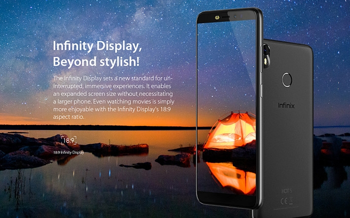 Infinix Hot S3 INfinity display