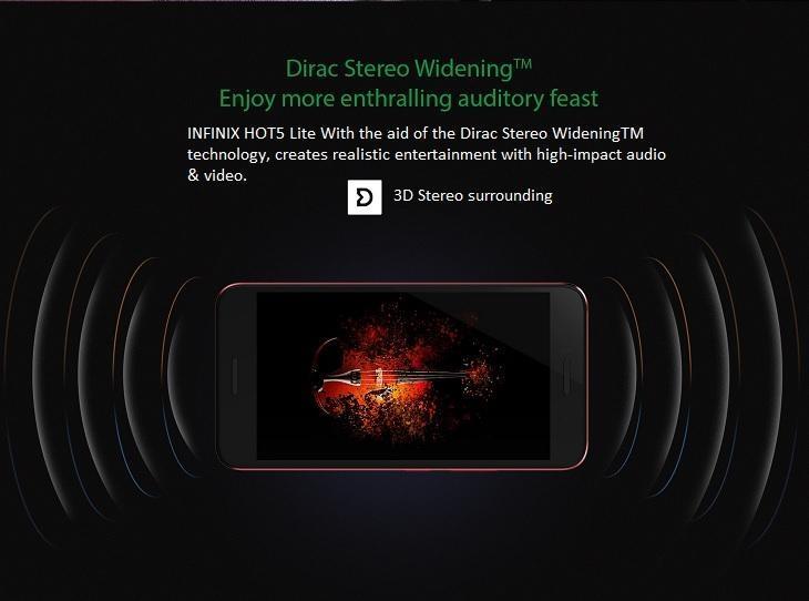 Infinix Hot 5 Lite dirac stereo