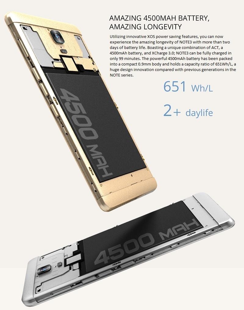 Infinix Note 3 Battery Life 4500mAh best price in Nigeria