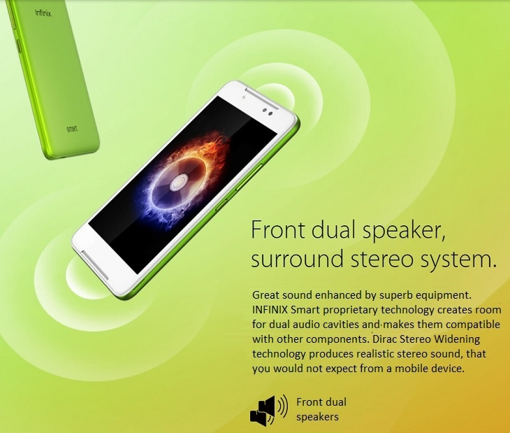 Infinix Smart X5010 front dual speakers