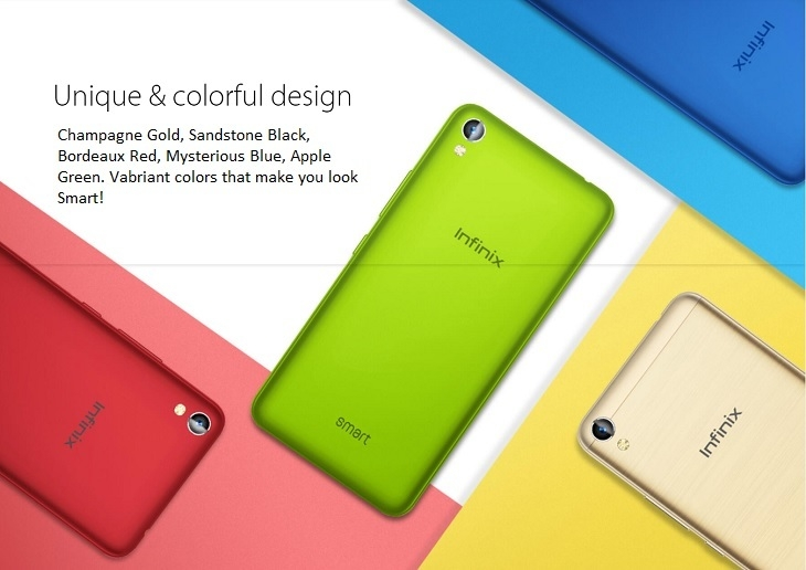 Infinix Smart X5010 colourful design