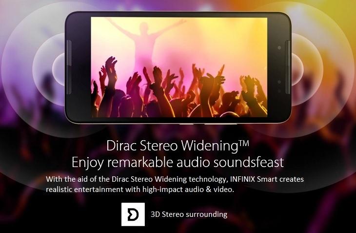 Infinix Smart X5010 dirac stereo