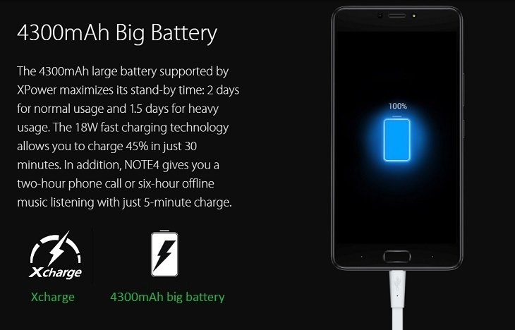 Infinix Note 4 4300mah battery