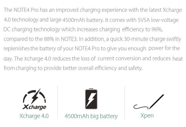 Infinix Note 4 Pro 4500mah battery