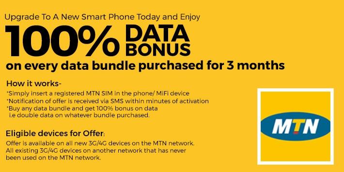 MTN Nigeria 100 percent Data Bonus new smartphones Jumia