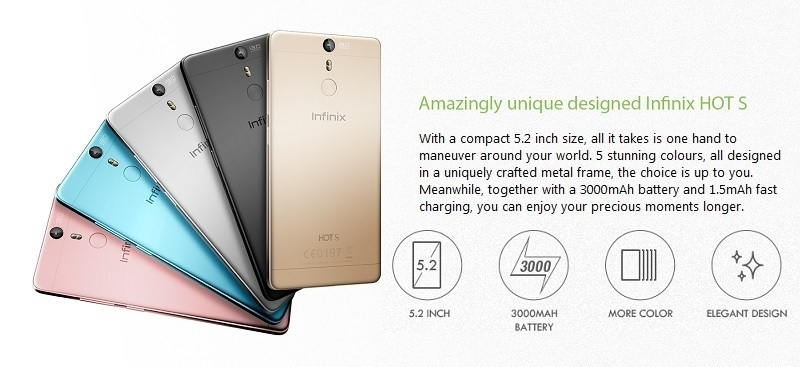 Infinix Hot S Design