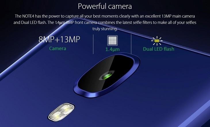 Infinix Note 4 8MP + 13MP Camera