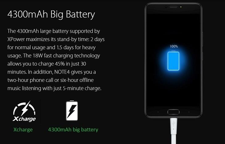 Infinix Note 4 4300mah battery