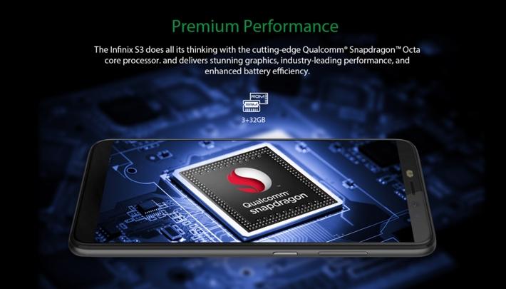 Infinix Hot S3 (X573) 5 65 -Inch IPS (3GB RAM, 32GB ROM) Android 8 0 Oreo  (20MP + 13MP) Dual Sim 4G LTE Smartphone