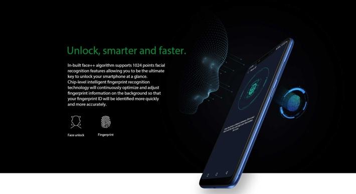 Infinix Hot 6X (X623) 6 2-Inch HD+ (2GB RAM, 16GB ROM) Android 8 1  Oreo,(13MP + 2MP)+ 8MP 4G Lte Dual Sim Smartphone - Black