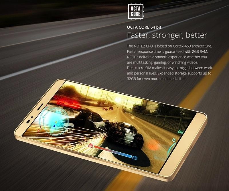 Infinix Note 2 X600 Memory and Processor