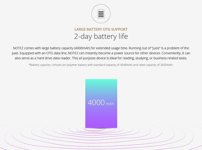 Infinix Note 2 X600 Battery Capacity