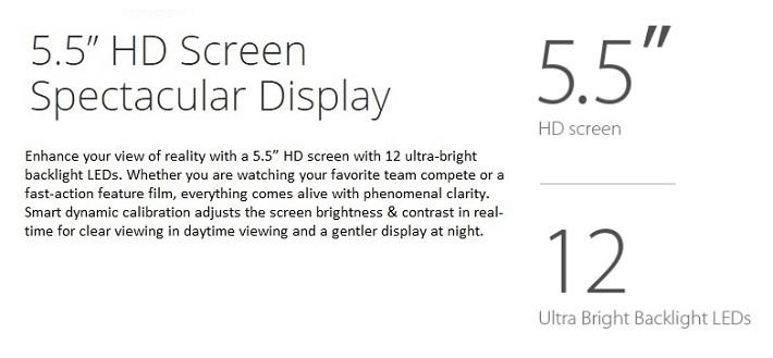 Infinx Hot 4 Lite 5.5 HD screen