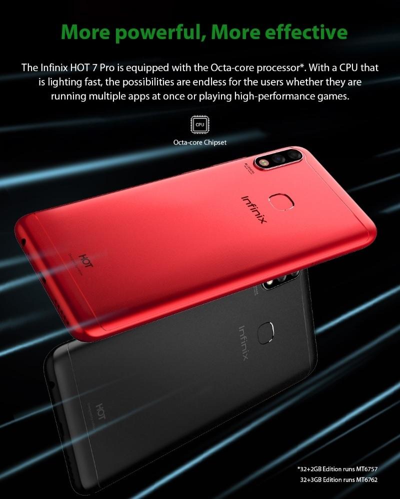 Infinix HOT 7 Pro (X625B) 6 2-Inch HD+ (3GB,32GB ROM) Android 9 Pie  (13MP+2MP) (13MP+2MP) 4000mAh Dual SIM 4G Smartphone