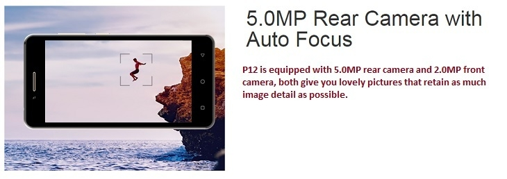 Itel P12 5MP Camera+ 2MP camera auto focus