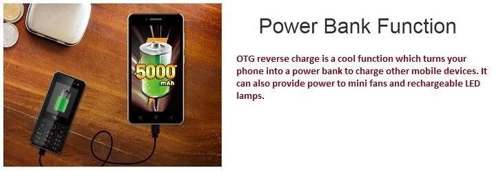 Itel P12 smartphone otg power bank function