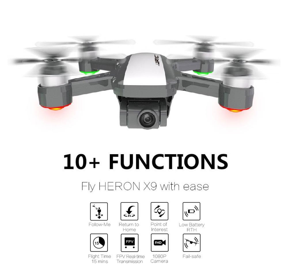 JJRC X9 5G WiFi FPV RC Drone 1080P Camera GPS Optical Flow Positioning Altitude Hold Follow Tap to Fly Quadcopter