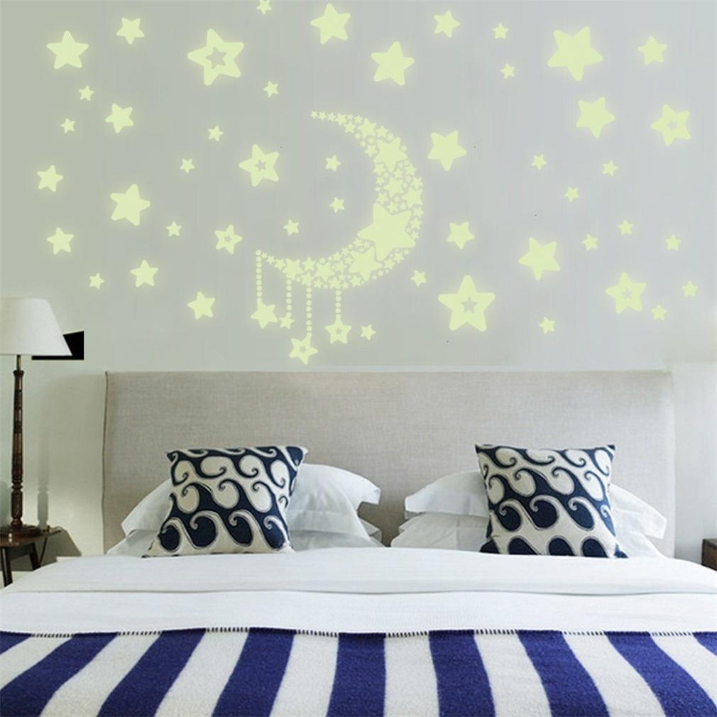 kokobuy diy night light glow in the dark moon stars wall stickers kokobuy diy night light glow in the dark moon stars wall stickers home decor decals