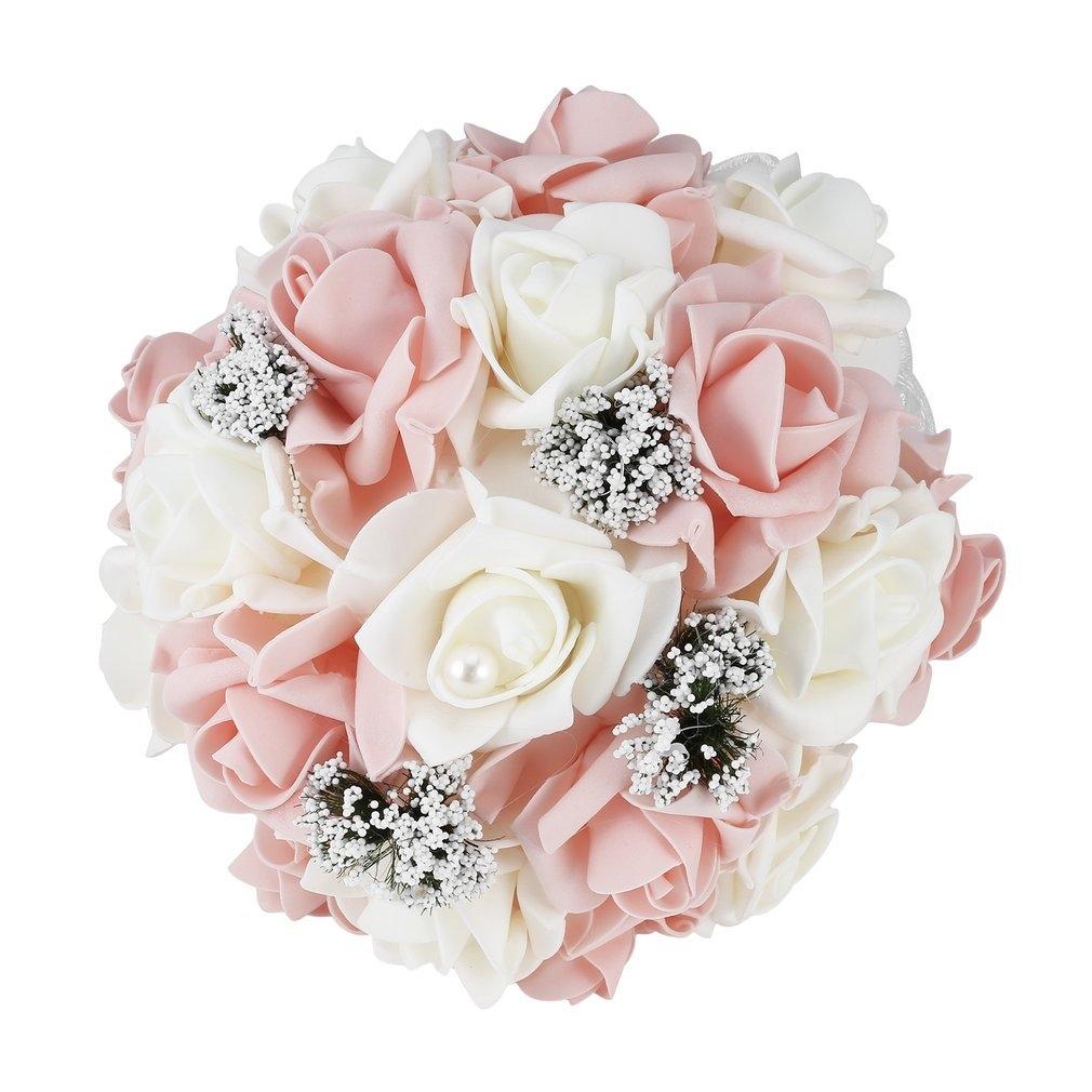 Kokobuy Bride Holding Flower Bouquet Korean Style Simulation Rose