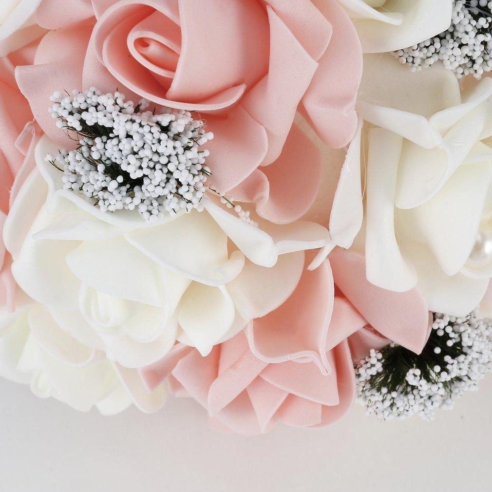 Kokobuy Bride Holding Flower Bouquet Korean Style Simulation Rose ...