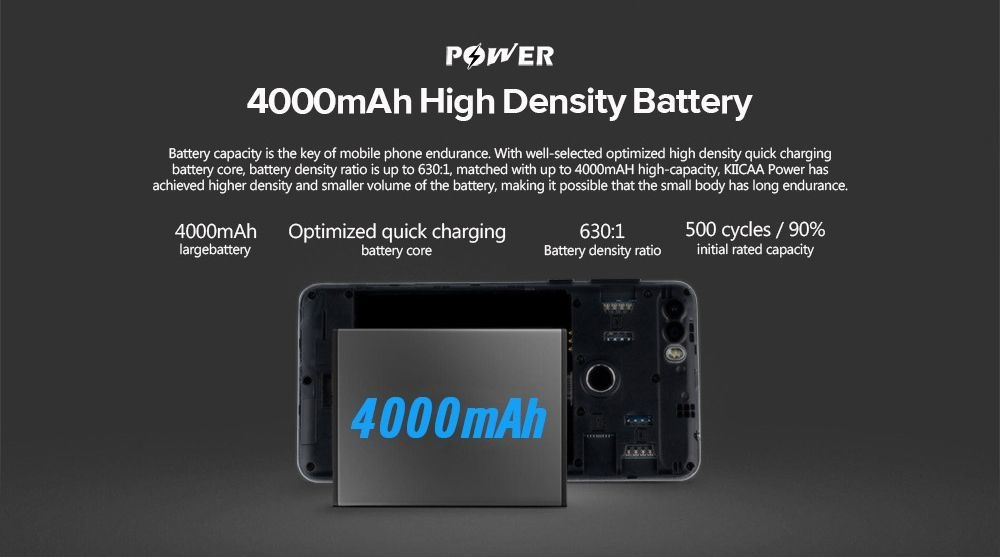 Leagoo LEAGOO KIICAA POWER Quad Core 1.3GHz MTK6580A 3G Smartphone 5.0 Inch HD Android 7.0 2GB RAM 16GB ROM 4000mAh Battery 5.0MP + 8.0MP Dual Rear Cameras price in nigeria