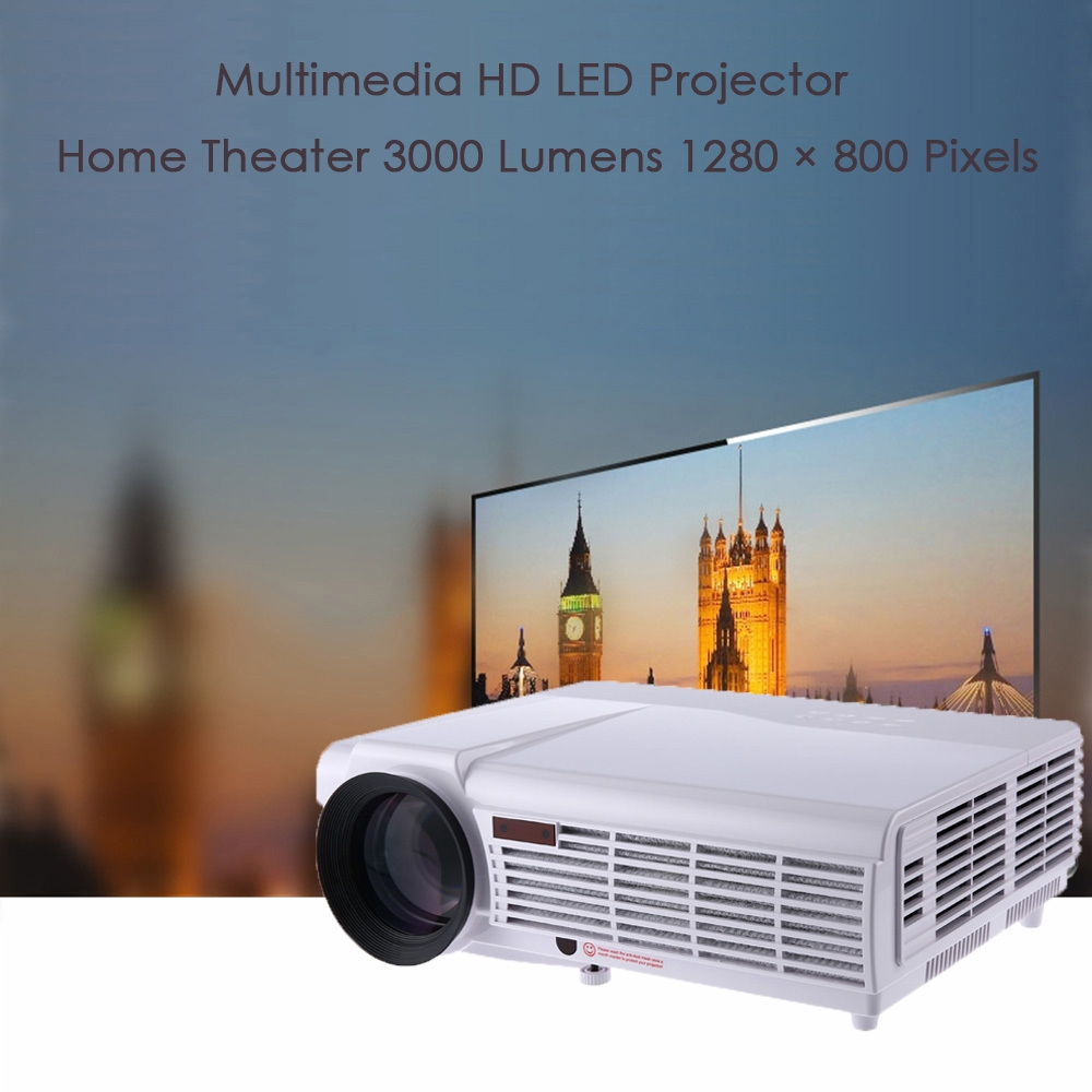 3000 Lumens Hd Home Theater Multimedia Lcd Led Projector: Led 96 Home Theater 3000 Lumens 1280 X 800 Pixels