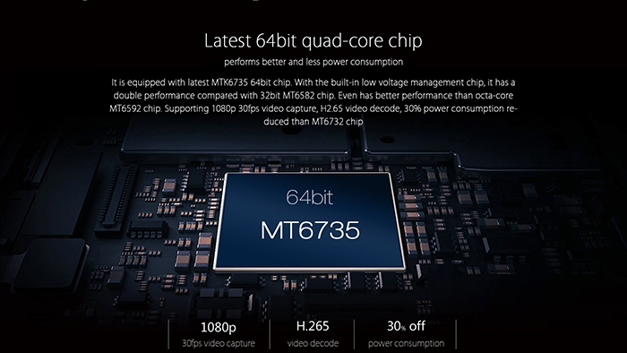 A2016 64 bit quad core chip