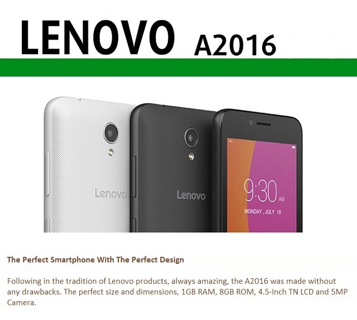 Lenovo A2016 on Jumia at the best price in Nigeria