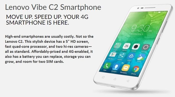 Lenovo Vibe C2 4G smartphone
