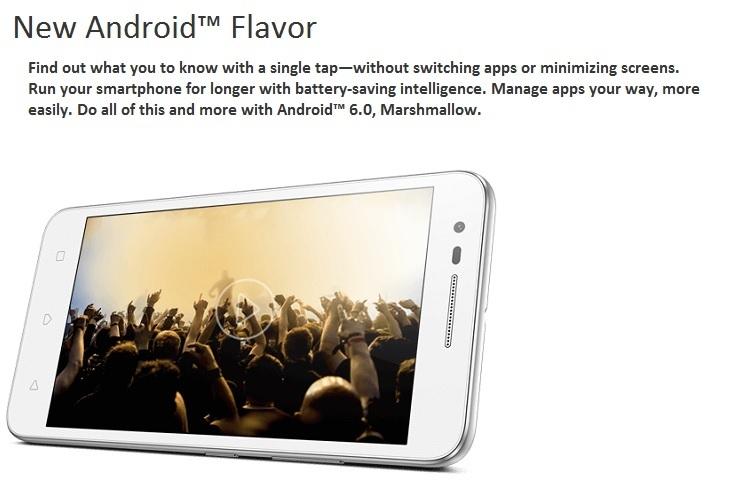 Lenovo Vibe C2 Android Marshmallow